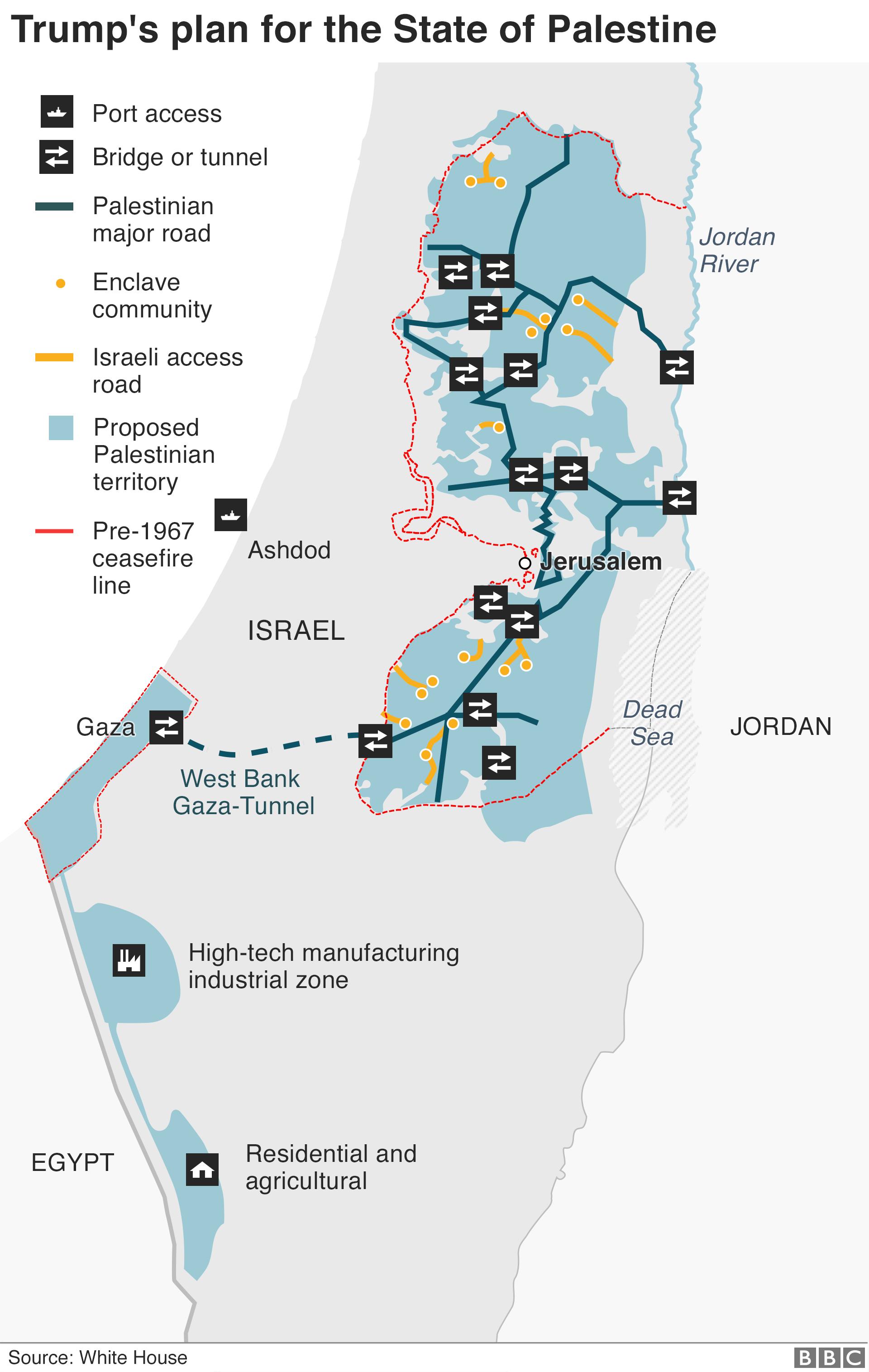 Cartina Israele Palestina.Il Piano Di Trump E Un Offerta Mafiosa La Luce