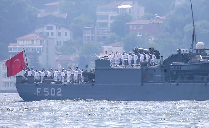 ll saluto della Marina turca